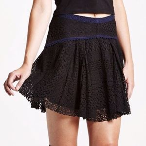 2/$50 NWT Free People Lace Crochet Skirt